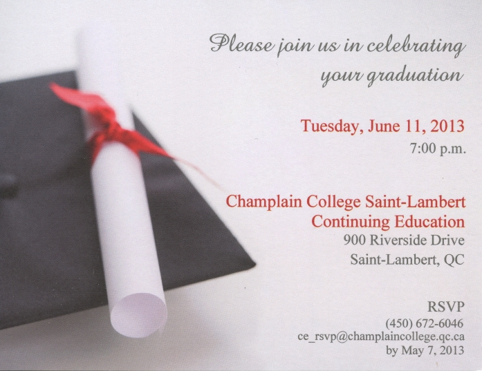 Announcing the First Graduation Ceremony for RAC Champlain RAC